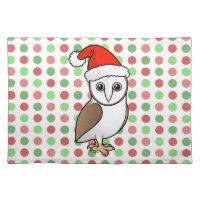 Barn Owl Santa Placemat 20