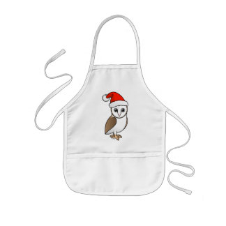 Barn Owl Santa Kids' Apron