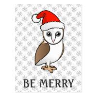 Barn Owl Santa Postcard