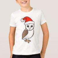 Barn Owl Santa Kids' American Apparel Fine Jersey T-Shirt