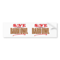 Barn Owl Save Bumper Sticker