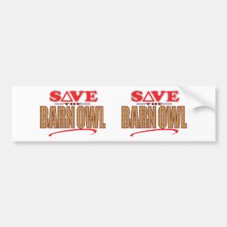 Barn Owl Save Bumper Sticker