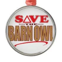 Barn Owl Save Metal Ornament