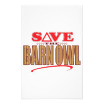 Barn Owl Save Stationery