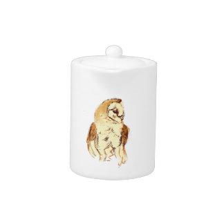 Barn Owl Sketch Teapot