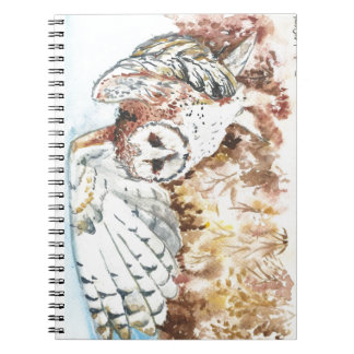 Barn owl spiral notebooks
