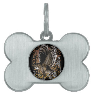 Barn Owl Stance Pet Tag