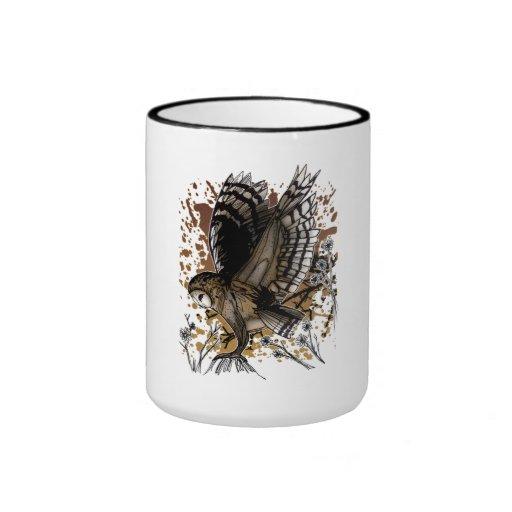 Barn Owl Stance Ringer Coffee Mug
