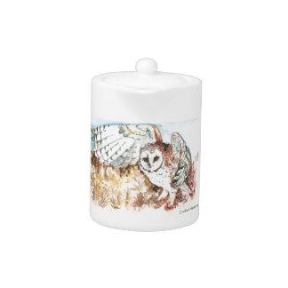 Barn owl teapot