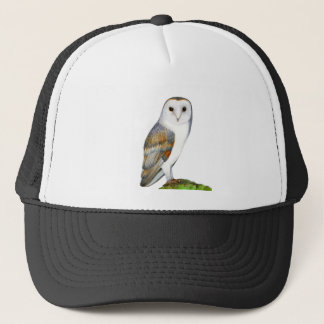 Barn Owl Tyto Alba Watercolor Artwork Print Trucker Hat