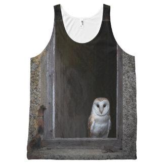 Barn Owl Unisex Tank, XL All-Over Print Tank Top
