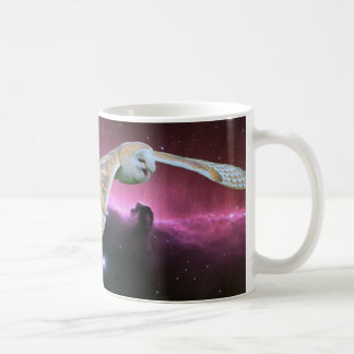 Barn Owl v. Horse Head Nebula. Coffee Mugs
