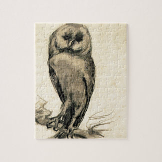 Barn Owl Viewed from the Front by Vincent van Gogh Jigsaw Puzzle