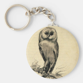 Barn Owl Viewed from the Front by Vincent van Gogh Keychain