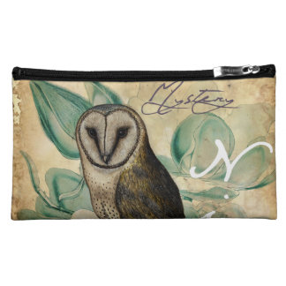 Barn Owl Vintage Cosmetic Bag