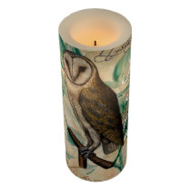 Barn Owl Vintage Flameless Candle