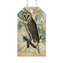 Barn Owl Vintage Gift Tags