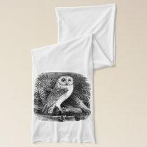 Barn owl vintage illustration scarf