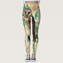 Barn Owl Vintage Leggings