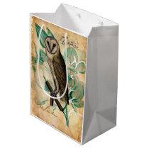 Barn Owl Vintage Medium Gift Bag