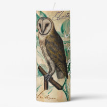 Barn Owl Vintage Pillar Candle