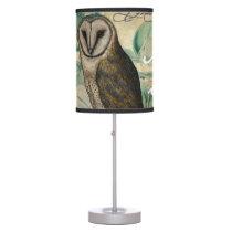 Barn Owl Vintage Table Lamp