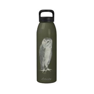 Barn Owl Water Bottle Choose your color