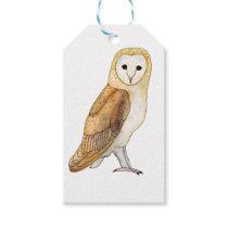 Barn Owl watercolour Gift Tags