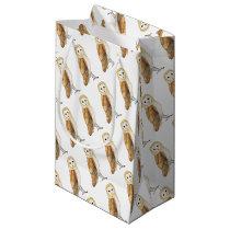 Barn Owl watercolour Small Gift Bag
