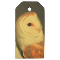 Barn owl wooden gift tags