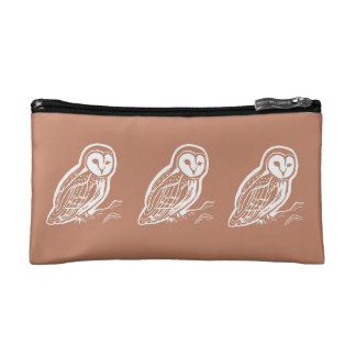 Barn Owls Brown Cosmetic Accessory Bag