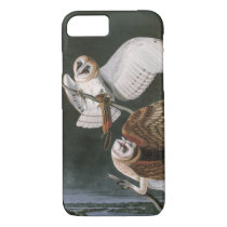 Barn Owls, the Birds of America John James Audubon iPhone 8/7 Case