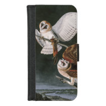 Barn Owls, the Birds of America John James Audubon iPhone 8/7 Wallet Case