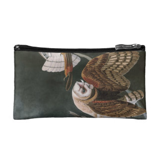 Barn Owls, the Birds of America John James Audubon Makeup Bag