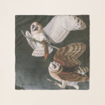 Barn Owls, the Birds of America John James Audubon Scarf