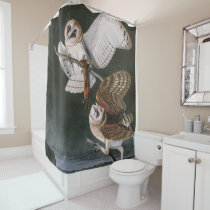 Barn Owls, the Birds of America John James Audubon Shower Curtain