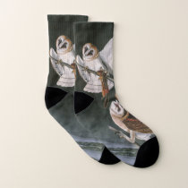 Barn Owls, the Birds of America John James Audubon Socks
