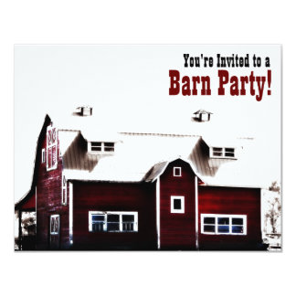 Barn Party - Country Style Get Together 4.25x5.5 Paper Invitation Card
