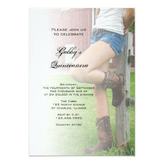 Barn Party Quinceañera Invitation