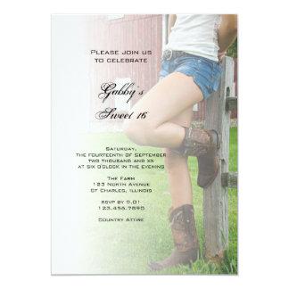 Barn Party Sweet 16 Invitation