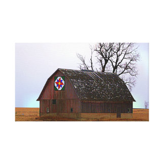 Barn Quilt Stretched Canvas Prints