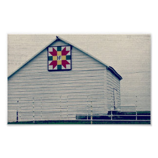 Barn Quilt With Letters Poster