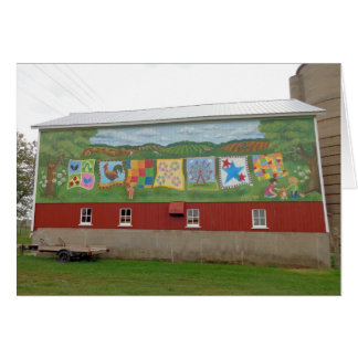 Barn quilts one better! stationery note card