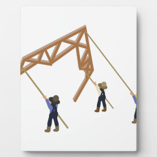 Barn Raising Plaque