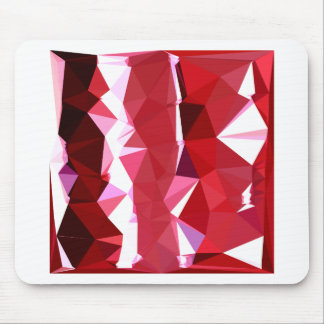 Barn Red Abstract Low Polygon Background Mouse Pad
