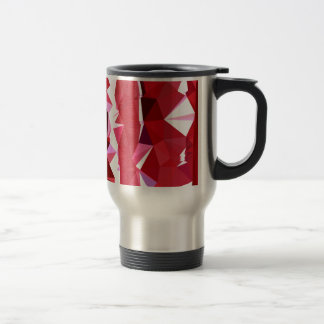 Barn Red Abstract Low Polygon Background Travel Mug