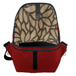 Barn Red Print Inside Messenger Bag