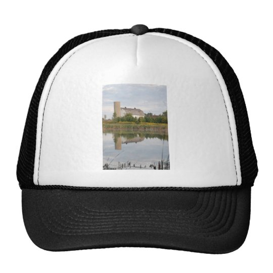 Barn Reeflected in the Water Trucker Hat
