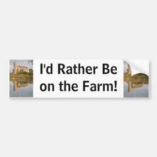 Barn Relected in the Water Bumper Sticker
