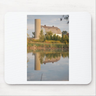Barn Relected in the Water Mouse Pad